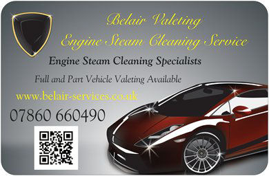 Belair Engine Chassis Oil Steam cleaning 07860 660490
