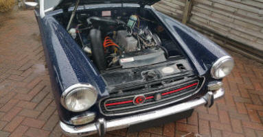 MG Midget Steam Cleaning